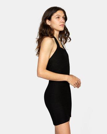 4 Rushmore Halter Dress Black AVJKD00117 RVCA
