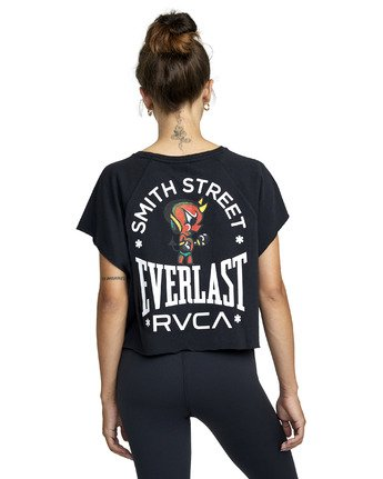 5 EVERLAST X SMITH STREET RAGLAN MUSCLE WORKOUT TANK TOP Black AVJKT00127 RVCA