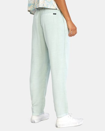 4 BLANK SLATE RELAXED FIT PANTS Blue AVJNP00110 RVCA