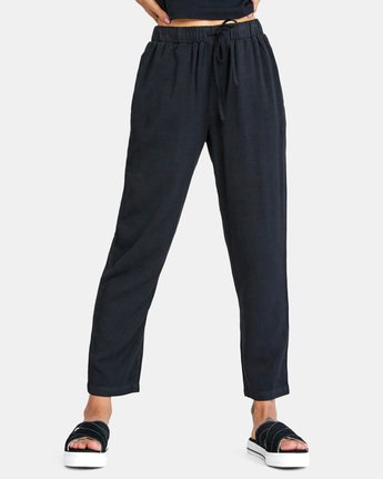 0 BLANK SLATE RELAXED FIT PANTS Black AVJNP00110 RVCA