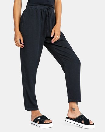 6 BLANK SLATE RELAXED FIT PANTS Black AVJNP00110 RVCA