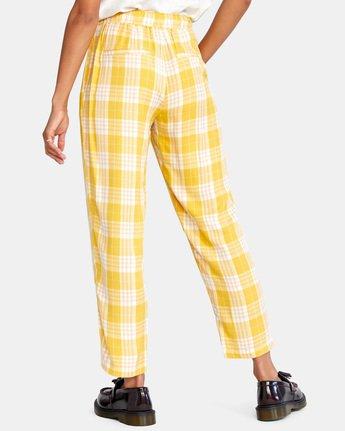 1 BLANK SLATE RELAXED FIT PANTS Yellow AVJNP00110 RVCA