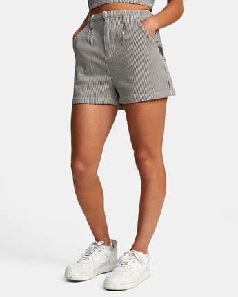 3 WILLOW HIGH RISE SHORTS Beige AVJNS00102 RVCA