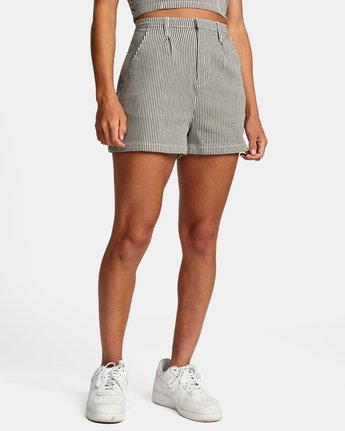 6 WILLOW HIGH RISE SHORTS Beige AVJNS00102 RVCA