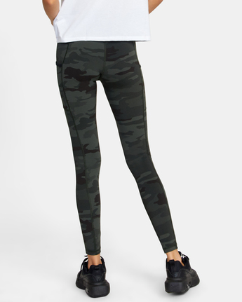 1 POCKET SPORT LEGGING II Green AVJNS00107 RVCA