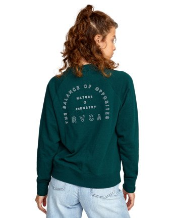1 ROUNDED PULLOVER SWEATER Green AVJSF00104 RVCA