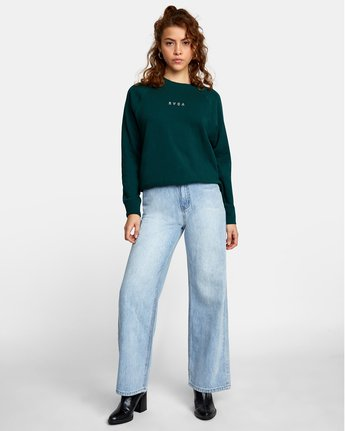 2 ROUNDED PULLOVER SWEATER Green AVJSF00104 RVCA
