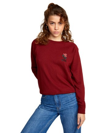 5 ROSITA PULLOVER SWEATER Red AVJSF00116 RVCA