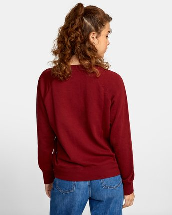 1 ROSITA PULLOVER SWEATER Red AVJSF00116 RVCA