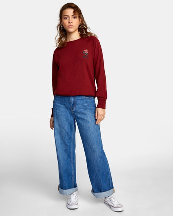 2 ROSITA PULLOVER SWEATER Red AVJSF00116 RVCA