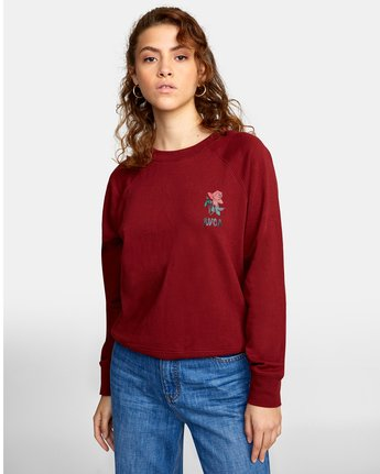 3 ROSITA PULLOVER SWEATER Red AVJSF00116 RVCA