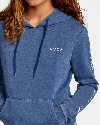 2 CLASSIC RVCA PULLOVER HOODIE Blue AVJSF00129 RVCA