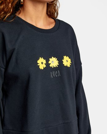 2 WILDFLOWER CREW SWEATSHIRT White AVJSF00131 RVCA