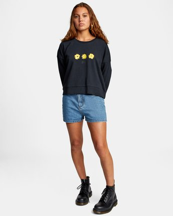 3 WILDFLOWER CREW SWEATSHIRT White AVJSF00131 RVCA