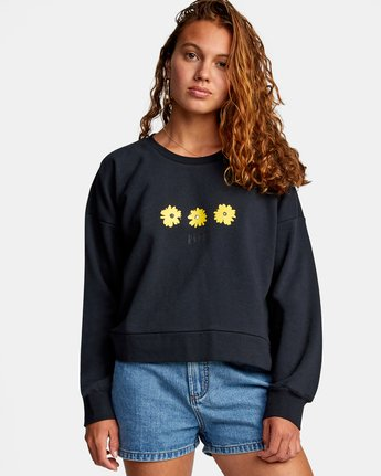 4 WILDFLOWER CREW SWEATSHIRT White AVJSF00131 RVCA