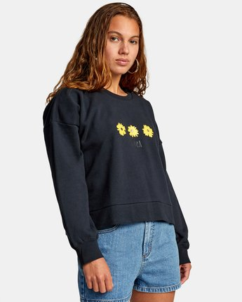 5 WILDFLOWER CREW SWEATSHIRT White AVJSF00131 RVCA