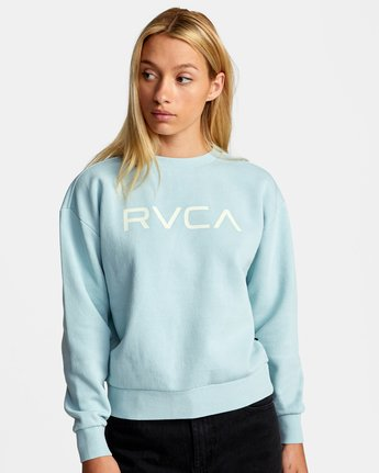 3 BIG RVCA PULLOVER SWEATSHIRT Blue AVJSF00132 RVCA
