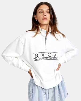 5 Constructed Fleece Sweater White AVJSF00145 RVCA