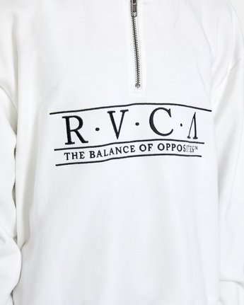 7 Constructed Fleece Sweater White AVJSF00145 RVCA