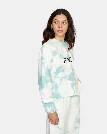 5 Big RVCA Crew Neck Sweatshirt Blue AVJSF00186 RVCA