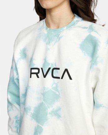 6 Big RVCA Crew Neck Sweatshirt Blue AVJSF00186 RVCA