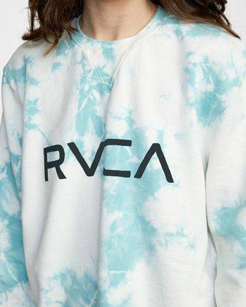 7 Big RVCA Crew Neck Sweatshirt Blue AVJSF00186 RVCA