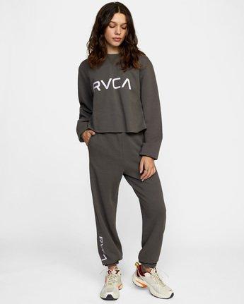 3 Big RVCA Crew Neck Sweatshirt Black AVJSF00186 RVCA
