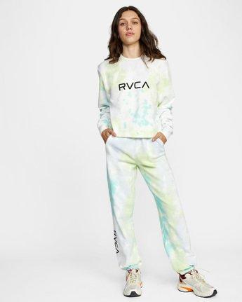 2 Big RVCA Crew Neck Sweatshirt Green AVJSF00186 RVCA