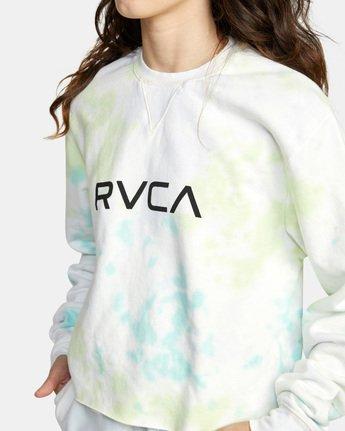 5 Big RVCA Crew Neck Sweatshirt Green AVJSF00186 RVCA