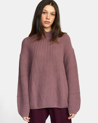 1 FITZ SWEATER Purple AVJSW00103 RVCA
