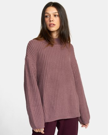 6 FITZ SWEATER Purple AVJSW00103 RVCA