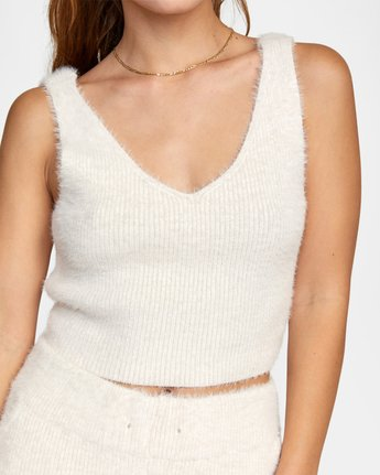 2 CABIN FEVER KNIT TANK TOP White AVJTO00106 RVCA