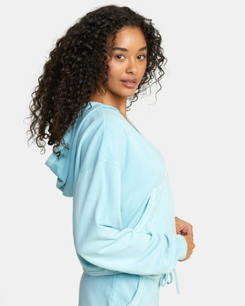 4 WARM UP PULLOVER SWEATSHIRT Blue AVJTO00108 RVCA