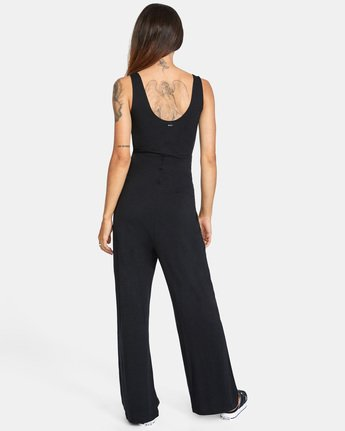 2 LUCKY NIGHT KNIT JUMPSUIT White AVJTO00111 RVCA