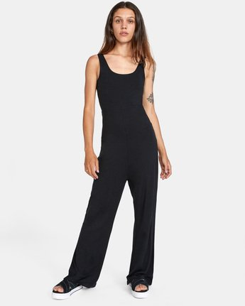 1 LUCKY NIGHT KNIT JUMPSUIT White AVJTO00111 RVCA
