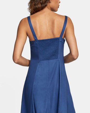 1 JETHRO MIDI DRESS Blue AVJWD00140 RVCA