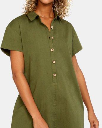 5 Go Green Romper Brown AVJWD00150 RVCA