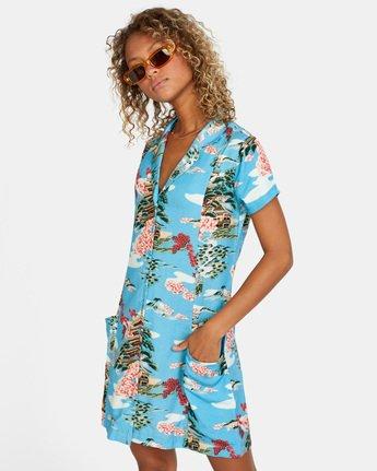6 Island Time Dress Brown AVJWD00157 RVCA