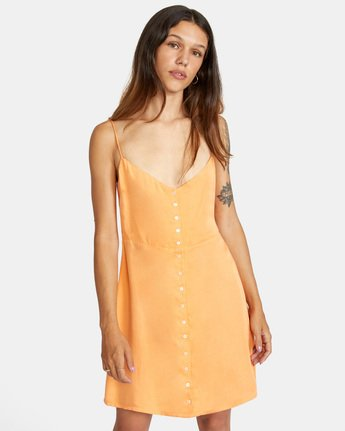 0 Out There Dress Orange AVJWD00168 RVCA