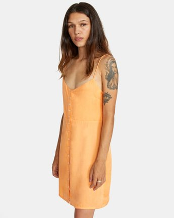 3 Out There Dress Orange AVJWD00168 RVCA