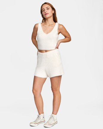 2 Cabin Fever Knit Short White AVJWH00103 RVCA