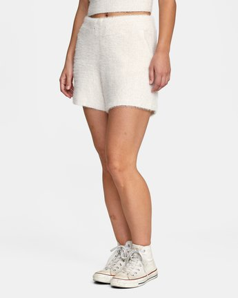 3 Cabin Fever Knit Short White AVJWH00103 RVCA