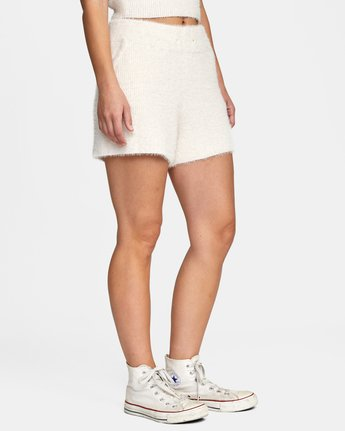 6 Cabin Fever Knit Short White AVJWH00103 RVCA