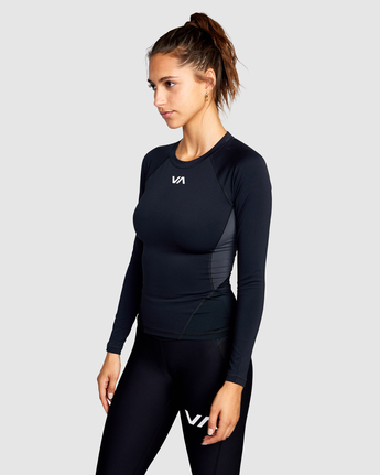 3 COMPRESSION LONG SLEEVE SPORT TOP Black AVJWR00100 RVCA