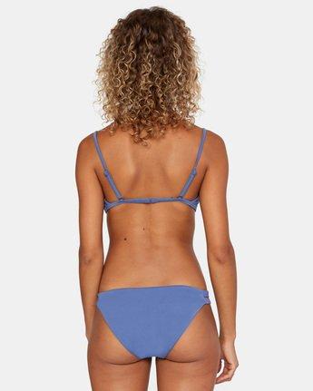 1 Solid Trilette Bikini Top Blue AVJX300163 RVCA