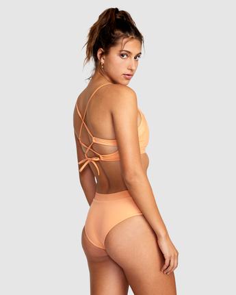 1 Wilder Crossback Bikini Top Orange AVJX300185 RVCA