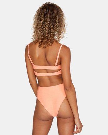 4 La Jolla Bandeau Bralette Bikini Top Orange AVJX300186 RVCA