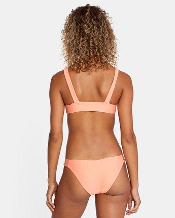 3 La Jolla Tie Front Bikini Top Orange AVJX300187 RVCA