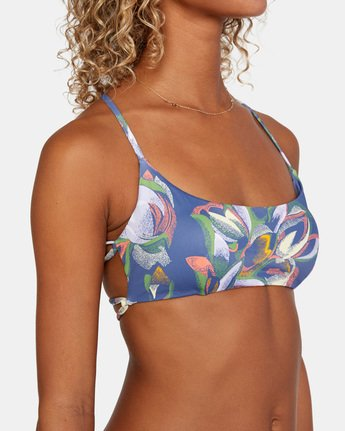 5 Pixie Crossback Bikini Top Blue AVJX300192 RVCA