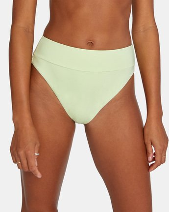 4 SOLID HIGH RISE BIKINI BOTTOM Green AVJX400121 RVCA